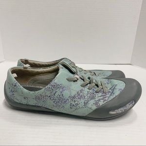Camper Womens Leather Floral Lace Up shoes 10 40